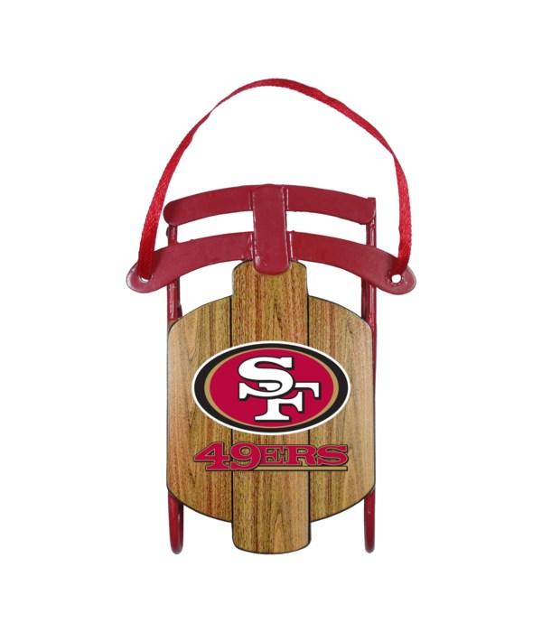 SLED ORNAMENT - SF 49ERS
