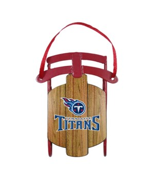 SLED ORNAMENT - TENN TITANS