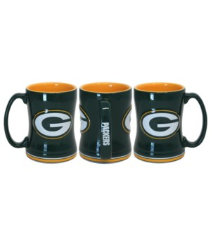SCULPTED MUG - GB PACKERS