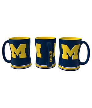 SCULPTED MUG - MICH WOLVERINES