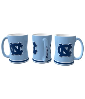 SCULPTED MUG - NC TARHEELS