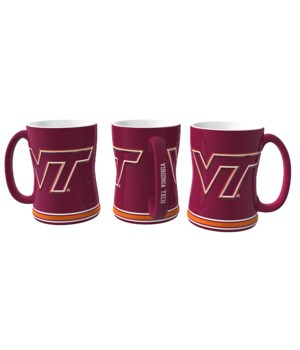SCULPTED MUG - VA TECH HOKIES