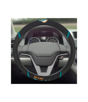 STEERING WHEEL COVER - MIA DOLPHINS