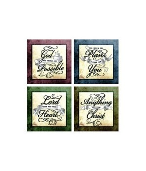 Scriptures Coasters 4 Asst - 12PC/Case