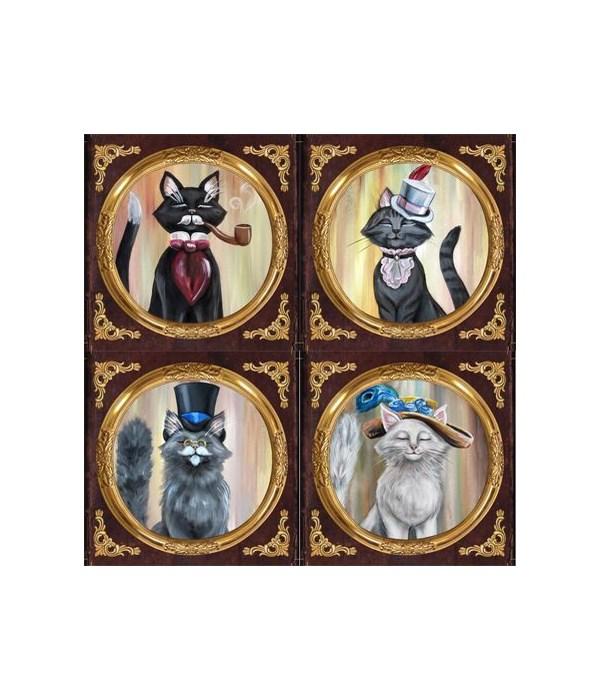 Cat Coasters 4 Assorted/12 Sets