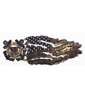 COAST GUARD TATTERED FLAG 36""