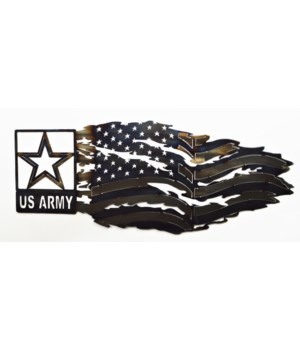 "ARMY TATTERED FLAG Dept of 36""x13"