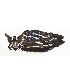 NAVY TATTERED FLAG 25""