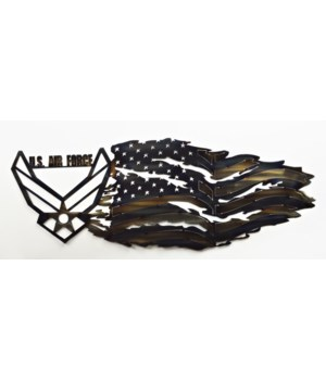"AIRFORCE TATTERED FLAG 30""x 12"""