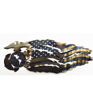 "MARINES TATTERED FLAG 30"" x 12"""