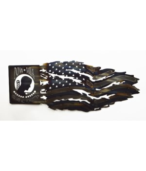 POW MIA TATTERED FLAG 25""