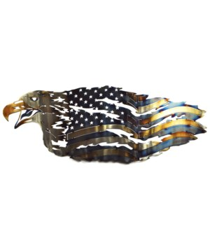 SCREEMING EAGLE TATTERED FLAG 25""