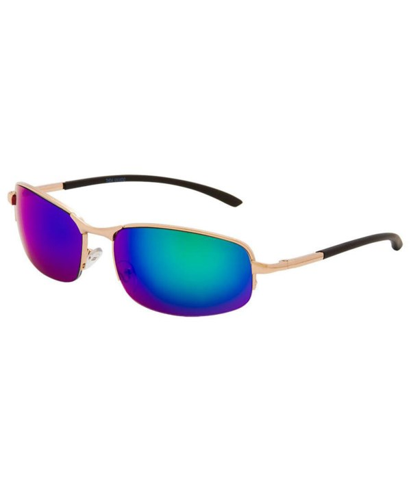 Semi-Rimless Sunglasses - Men's