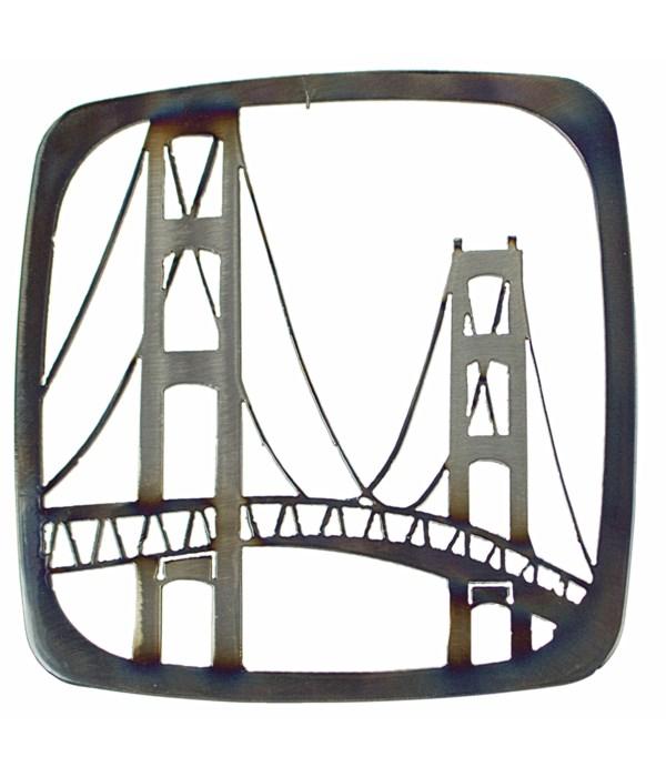 """Mackinac Bridge 9"""" Trivet"""