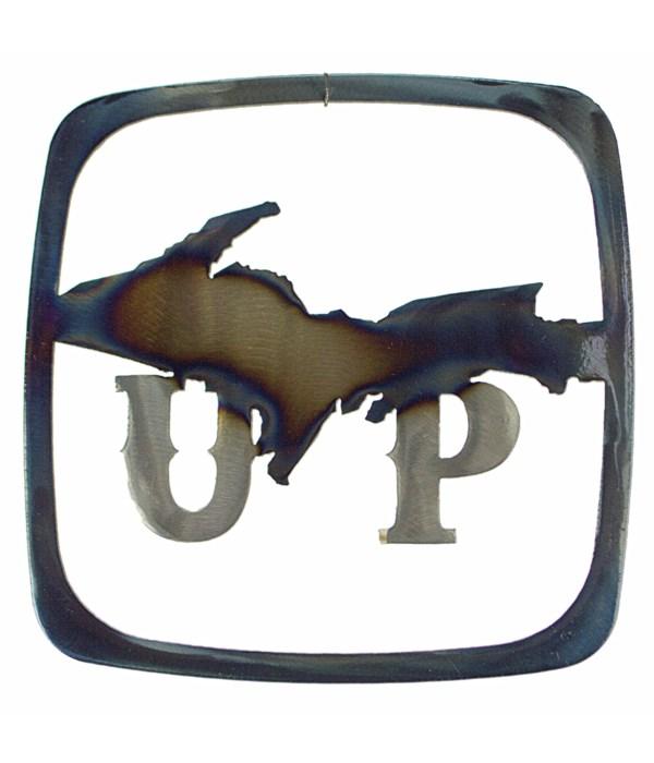 "UP Upper Peninsula icon 9"" Trivet"