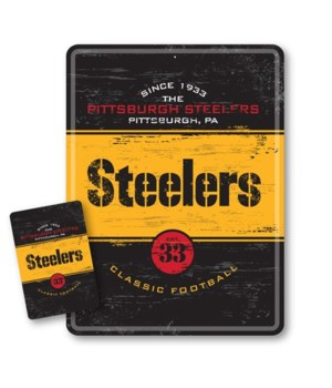 Pittsburgh Steelers Tin Sign Magnet Set