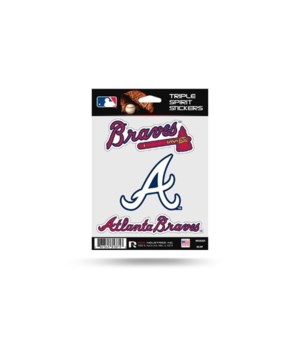 TRIPLE SPIRIT STICKER - ATL BRAVES