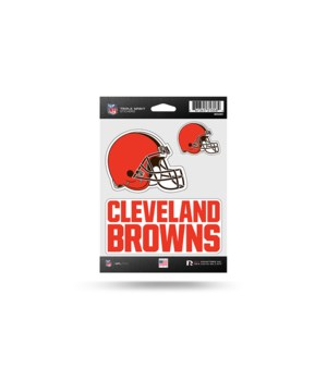 TRIPLE SPIRIT STICKER - CLEV BROWNS