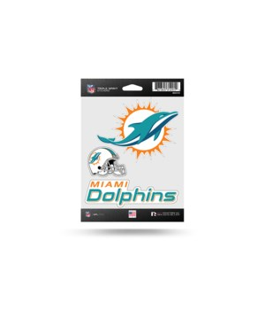 TRIPLE SPIRIT STICKER - MIA DOLPHINS