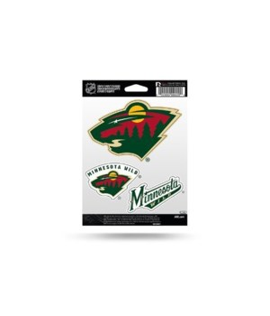 TRIPLE SPIRIT STICKER -MINNESOTA WILD