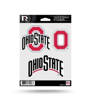 TRIPLE SPIRIT STICKER - OHIO STATE BUCKE