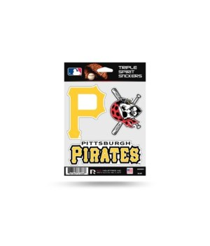 TRIPLE SPIRIT STICKER - PITT PIRATES