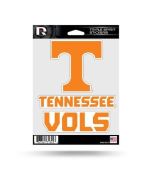 TRIPLE SPIRIT STICKER - TENN VOLS