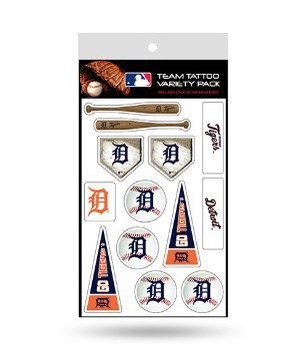TATTOO VARIETY PACK - DET TIGERS