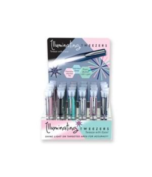Illuminating Tweezers - New Colors 24PC