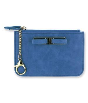 Blue C-Card Coin Purse Keychain 4PC