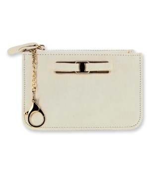 Ivory C-Card Coin Purse Keychain 4PC