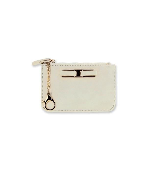 Ivory C-Card Coin Purse Keychain 4PC