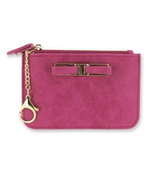 Pink C-Card Coin Purse Keychain 4PC