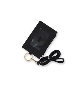Black Zippered ID Lanyard 4PC