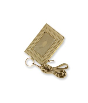 Gold Zippered ID Lanyard 4PC