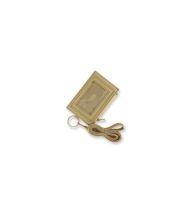 Gold Zippered ID Lanyard 4PC