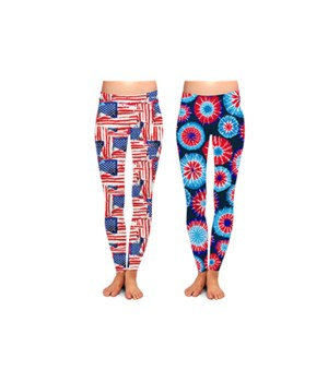 Patriotic  Leggings 24PC