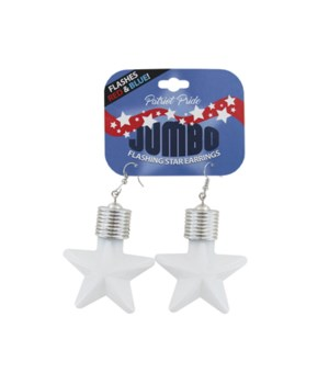 JUMBO Flashing Star Earrings 24PC