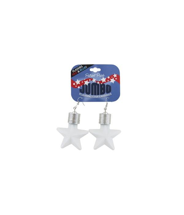 JUMBO Flashing Star Earrings 24PC