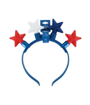 JUMBO Flashing Star Headband 24PC