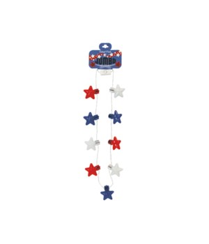 JUMBO Flashing Star Necklace 24PC