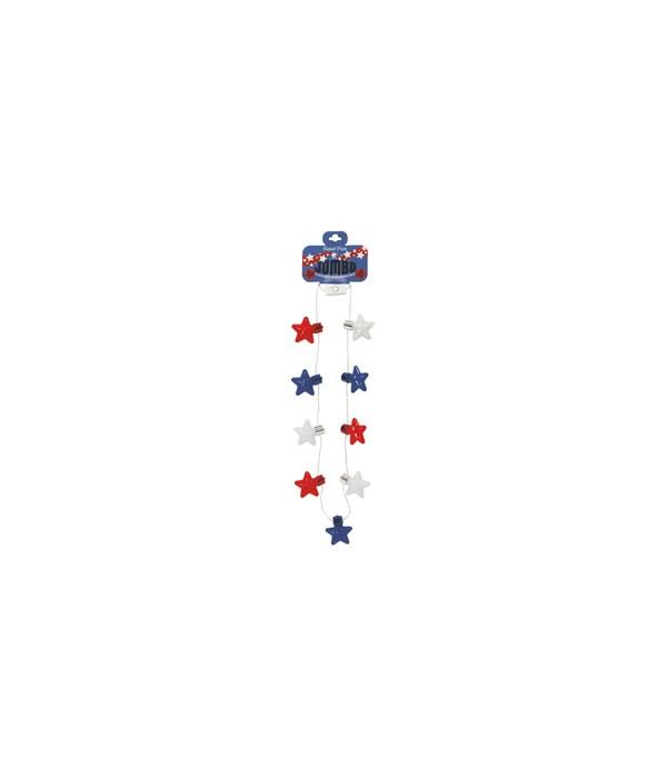 JUMBO Flashing Star Necklace 24PC