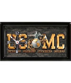 """USMC Clock """"USMC letters"""""""