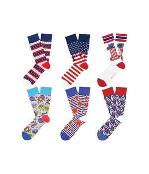 USA Patriot Pride Sock Collection 24PC