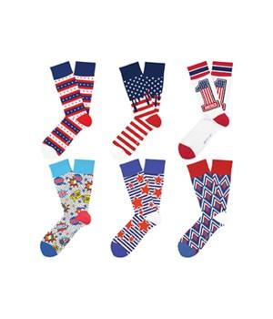 *USA Patriot Pride Sock Collection 24PC