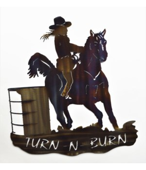 "Barrel Racer (Turn & Burn) Wall Art 18"" Wall Art"