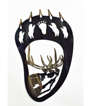 "Bear Claw with Elk 18"" Wall Art"