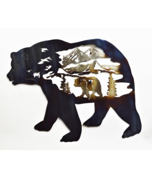 "Bear Inside Bear Wall Art 18"" Wall Art"