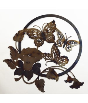 "Butterfly Circle Wall Art 18"" Wall Art"