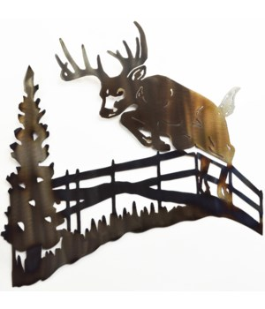 "Deer Jumping Fence Wall Art 18"" Wall Art"